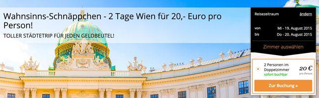 Wien Trip Wien: 1 Doppelzimmer Übernachtung im HB1 Design & Budget Hotel + Frühstück ab 20€ pro Person