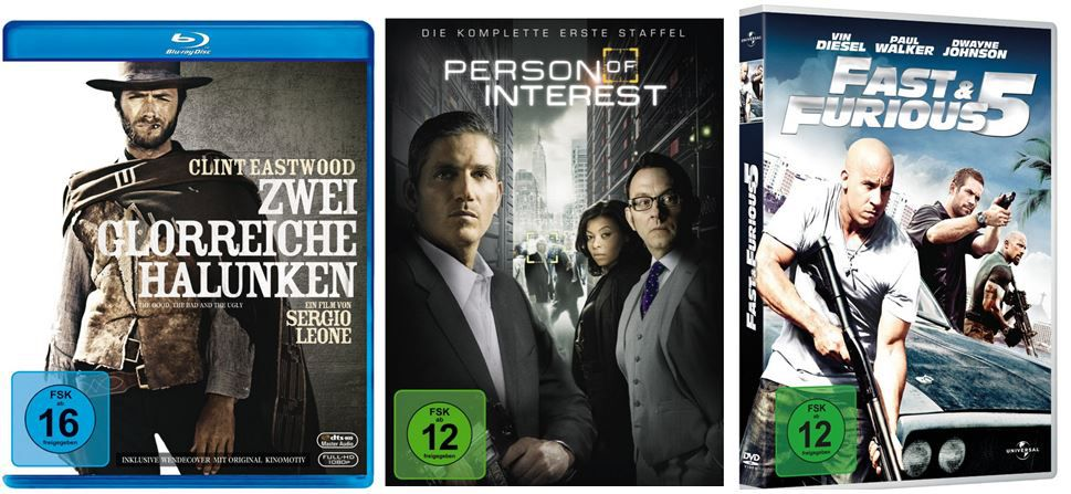 3 Serien für 25€ und mehr Amazon DVD oder Blu ray Angebote   Update