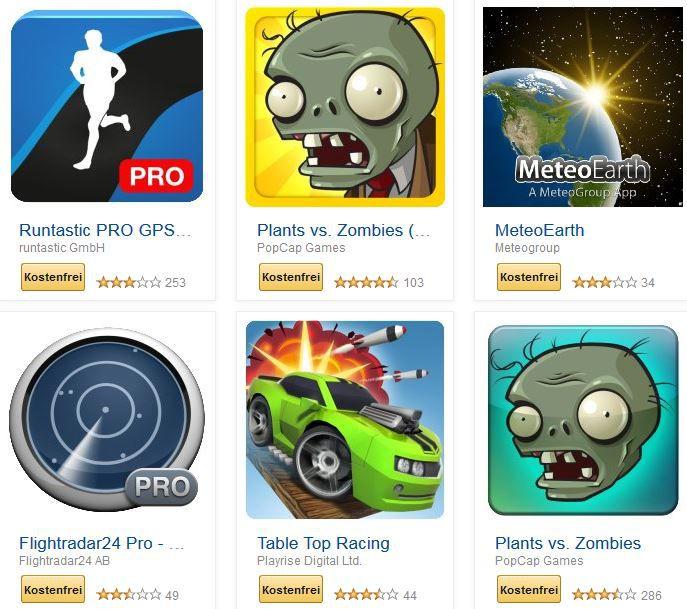 Runtastic PRO GPS Running, Plants vs. Zombies, und weitere 24 kostenlose Amazon Android Apps für Tablets, Phones   Update!