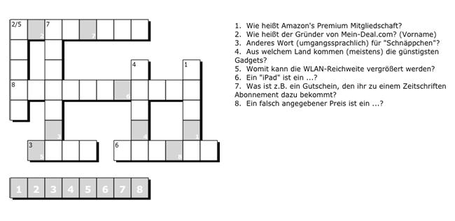 Gewinner! Kreuzworträtsel lösen und mit etwas Glück einen Fire TV oder Gutschein gewinnen