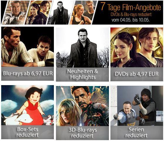 7 Tage Schnäppchen Box Sets reduziert bei den 7 Tage Amazon Film Angeboten