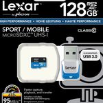 Flashsale: LEXAR 633X – 128GB microSDXC Karte + USB3 Stick ab 18Uhr statt 43€ für nur 30,99€