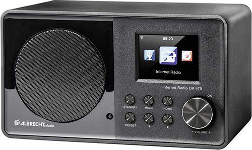 Albrecht DR 470 Albrecht DR 470 Internet  & FM Radio (Farbdisplay, WLAN, UKW, DLNA) für 81,05€