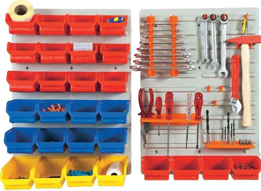 Alutec 56060   43 teiliges Wandpaneel Set für Werkzeug und Zubehör für 24,99€