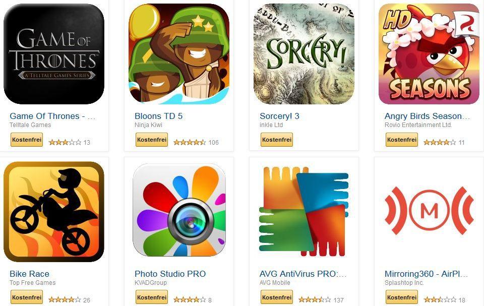 Neu: 41 kostenlose Amazon Android Apps für Tablets, Phones im Wert von 100€