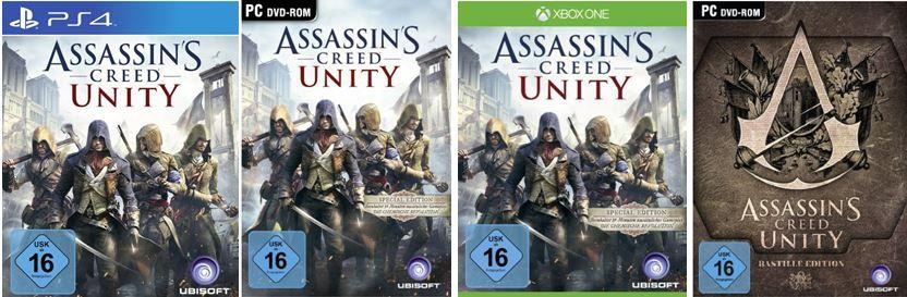 Assassins Creed Unity (PS4, Xbox one, PC) ab €   bei den 45 Amazon Blitzangeboten ab 18Uhr