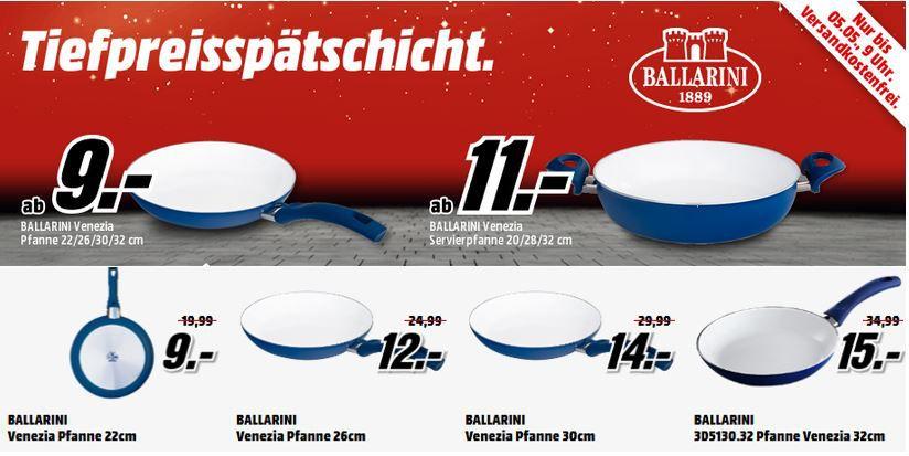 Ballarini Pfannen Ballarini Venezia Pfanne 22cm für 9€ in der MediaMarkt Ballarini Pfannen Tiefpreisspätschicht