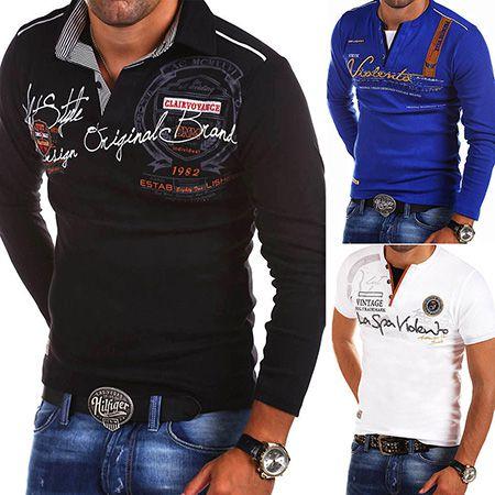 Behype   Herren Poloshirts oder Longsleeves in versch. Farben je 16,90€