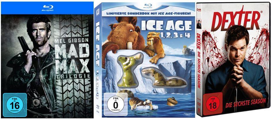 Ice Age 1, 2, 3 & 4 (Blu ray) ab 10,97€ bei den 379 Amazon DVD und Blu ray Angeboten der Woche