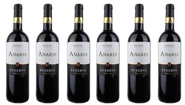 6 Flaschen Bodegas Olarra Anares Rioja DOCa Reserva für 37,89€   5 fach prämierter Rotwein