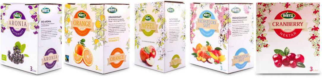 Dietz Säfte Sale Dietz Frucht Direktsäfte und Nektar im Angebot z.B.: 6l Dietz Cranberry Nektar ab 12,46€