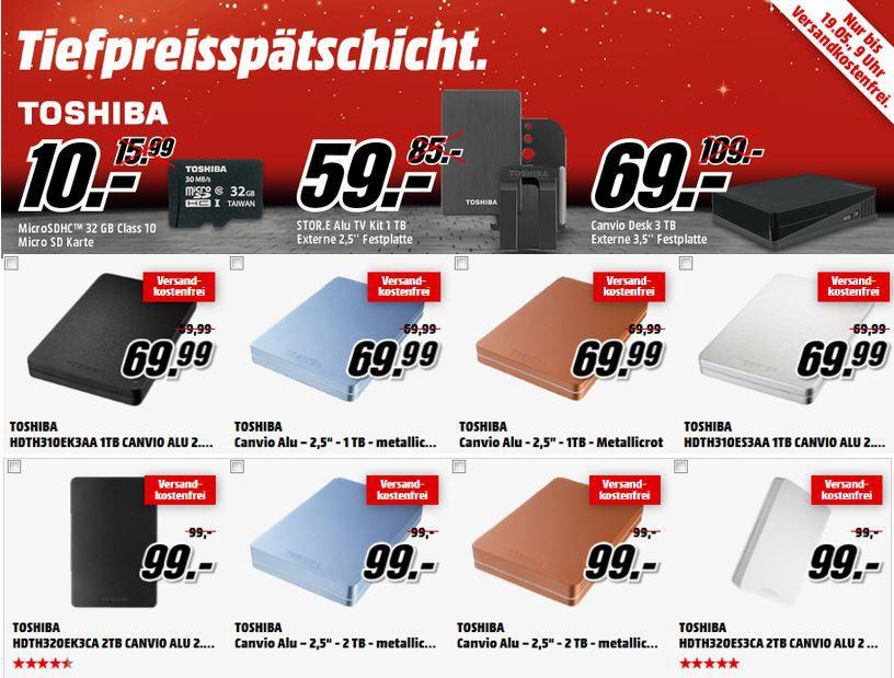 Toshiba Canvio Desktop 3TB für 69€ in der MediaMarkt Toshiba Tiefpreisspätschicht
