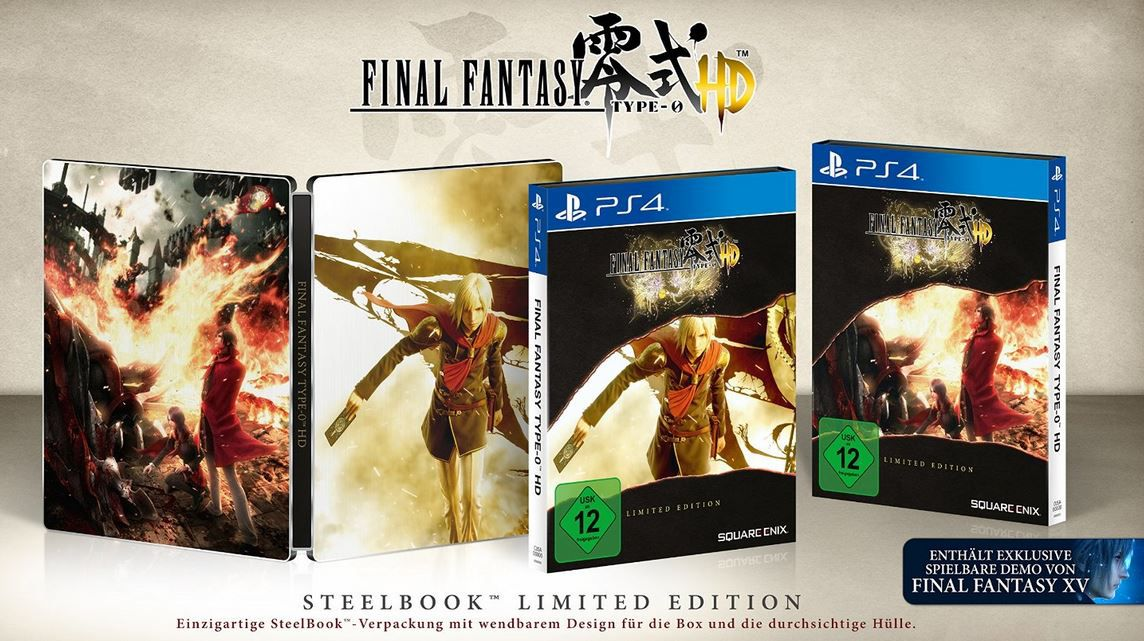 Final Fantasy Type 0 HD   PlayStation 4 Limited Steelbook Edition für 39,97€