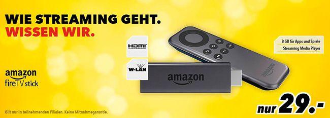 Fire TV Stick Fire TV Stick für 29€ in jeder teilnehmenden Medimax Filiale