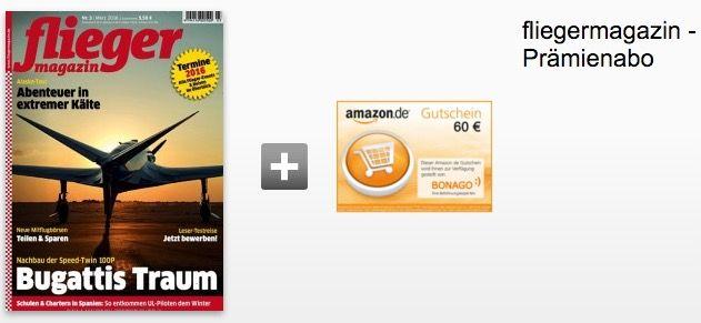 Fliegermagazin1 12 Ausgaben fliegermagazin für effektiv 9,60€ dank 60€ Gutscheinprämie