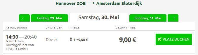 Flixbus Tiket Flixbus mit 50.000 Tickets in die Niederlande, nach Belgien und Frankreich ab 9€   Update!