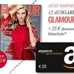 12 Ausgaben Glamour effektiv mit 0,40€ Gewinn dank Gutschein