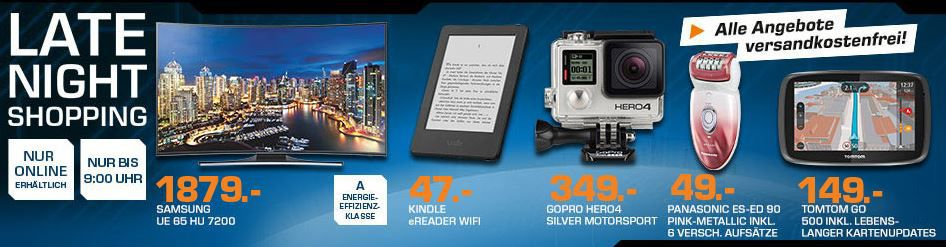 KINDLE E Book Reader ab 42€   GOPRO Hero4 Silver ab 344€ und mehr Top Saturn Late NightShopping Angebote   Update!