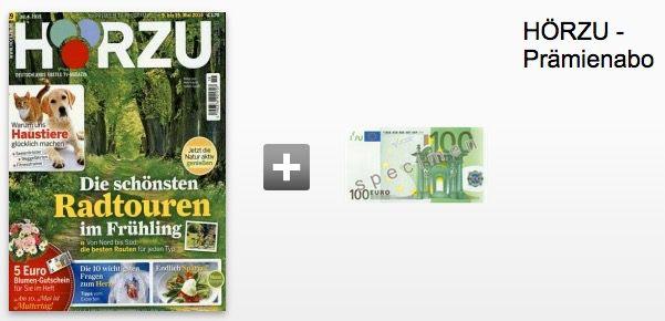 Jahresabo Hörzu 53 Ausgaben effektiv nur 1€ dank 105€ ShoppingBON Gutschein   6€ mit 100€ Scheckprämie   Update