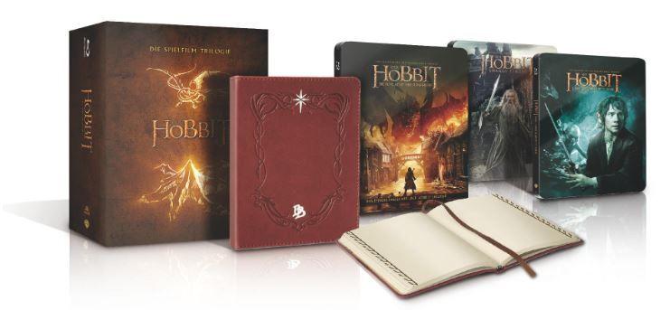 Der Hobbit   Trilogie Steel Edition inkl Bilbos Journal ab 34,99€