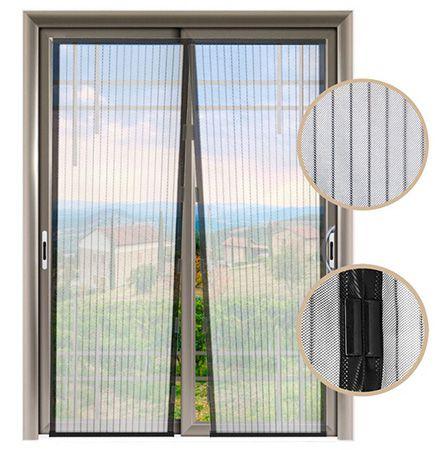 Insektenschutzvorhang 100 x 210 cm mit automatisch schließenden Magnetverbindungen für 7,99€