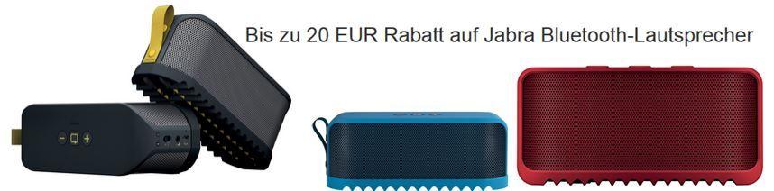 Bis zu 20€ Rabatt auf Jabra Bluetooth Lautsprecher   z.B. Jabra Solemate schwarz für 69,38€   Update!