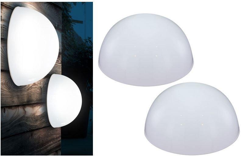 LED Gartenleuchte LED Solar Lampe Halbkugelform in 3 Größen als 2er Set für je 18,90€