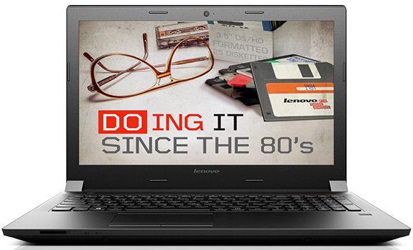 Lenovo B50 30 MCA2WGE Lenovo B50 30 MCA2WGE   15,6 Zoll Notebook (2,58 GHz, 4GB Ram, 500GB, Win 8.1) für 229,90€