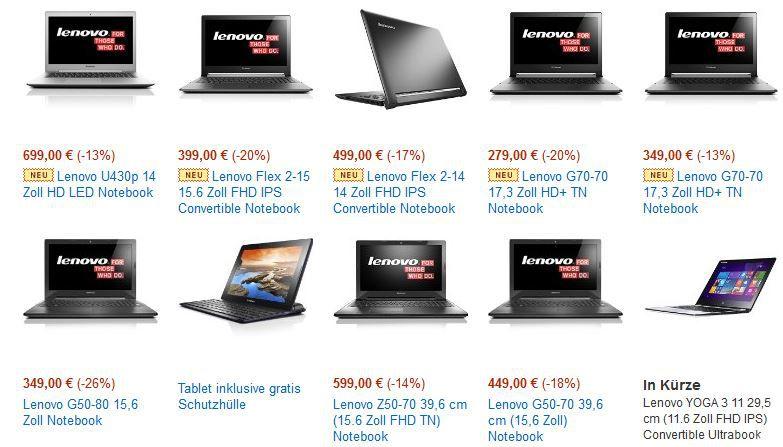Lenovo Notebook Angebot