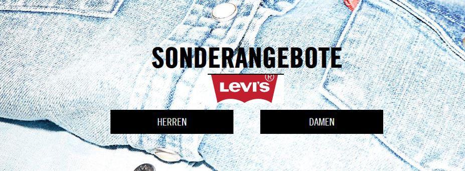 Levi's mit 50% SALE + 30% Sofort Rabatt auf Alles ohne MBW + ab 50€ VSK frei   Update!