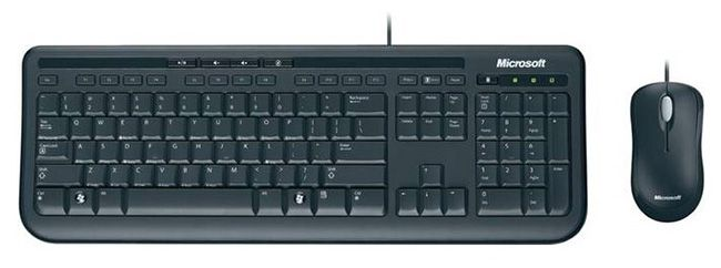 Microsoft Wired Desktop 600 für 15,99€   Set bestehend aus Tastatur und Maus