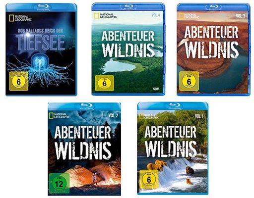 National Geographic: Abenteuer Wildnis + Tiefsee (5 Blu rays) für 19,99€