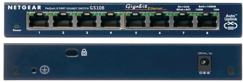 Netgear GS108 GE   8 Port Gigabit Kupfer Switch für 21,90€