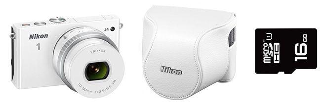 Nikon 1 J4 KIT Nikon 1 J4 KIT Systemkamera mit 10 30mm Objektiv + Tasche + Speicherkarte für 266,99€