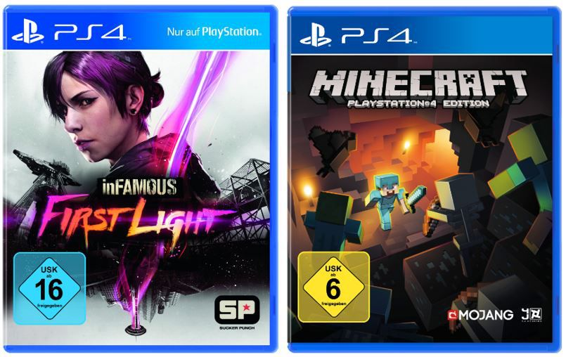 PS Games PS 4 Games: Mincraft + Infamous First Light für je 10€ bei den Saturn Online Offers