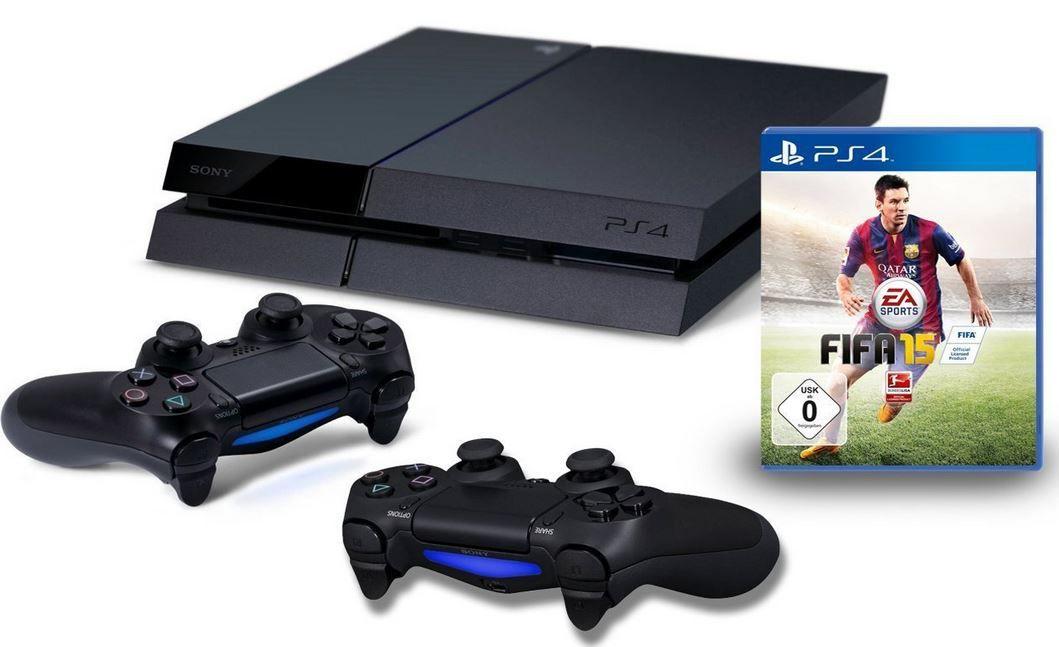 PS4 + FIFA 15 + 2 Controller
