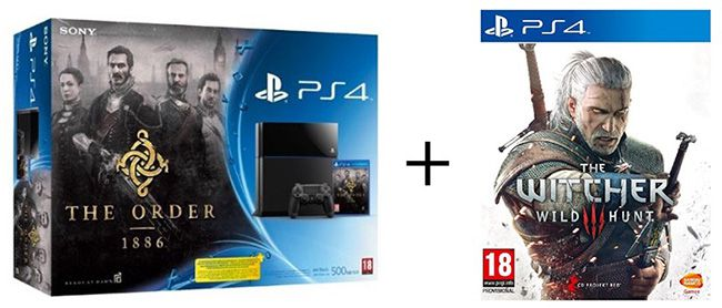 Playstation 4 + The Witcher 3: Wild Hunt + The Order 1886 für 407,30€