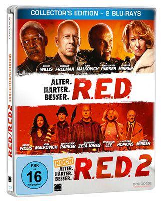 R.E.D. & R.E.D. 2 Blu ray Steelbook Edition für 9,99€