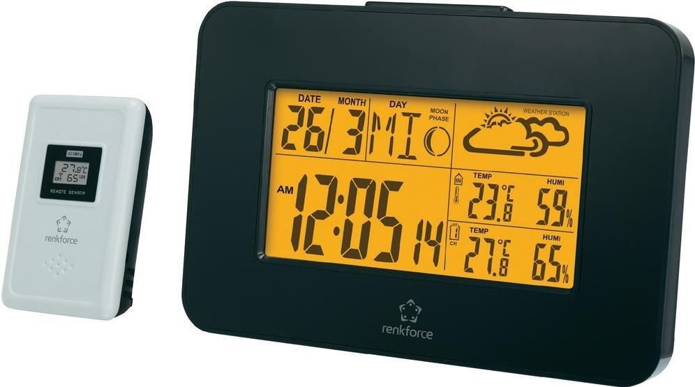 Renkforce E0303H2TR   Uhr und Funk Wetterstation für 14,99€