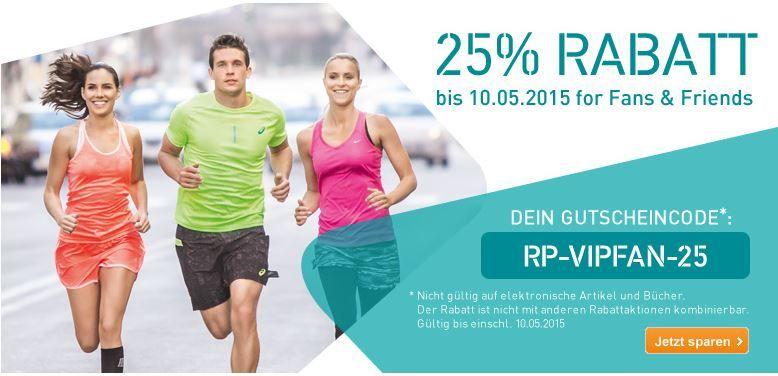 Runnerspoint Runners Point mit 25% Rabatt auf (fast) Alles ohne MBW