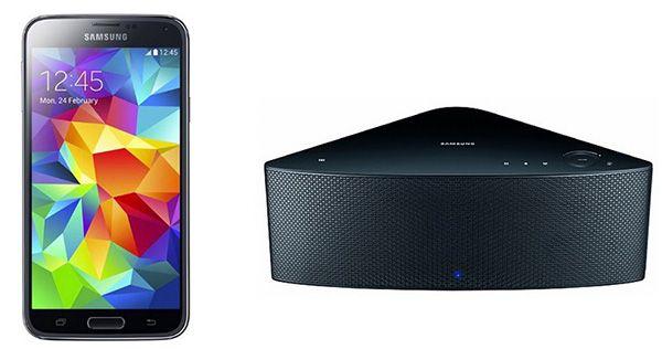 Samsung Galaxy S5 16GB + Samsung WAM750 Wireless Lautsprecher ab 449,99€