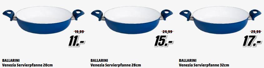 Servierpfanne Ballarini Venezia Pfanne 22cm für 9€ in der MediaMarkt Ballarini Pfannen Tiefpreisspätschicht
