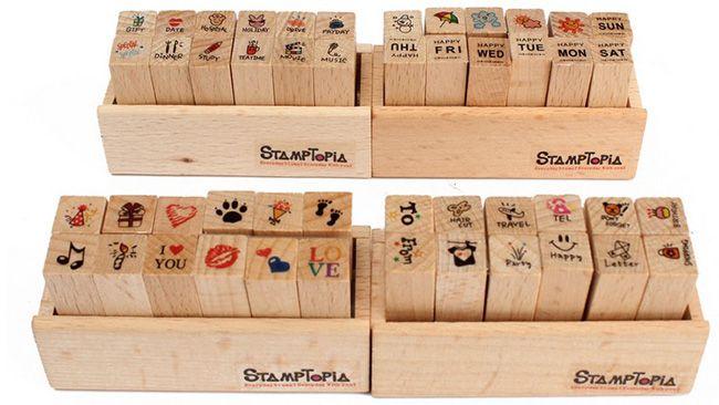Stempelset 12 teiliges Stempelset mit verschiedenen Motiven für 2,15€   China Gadget!