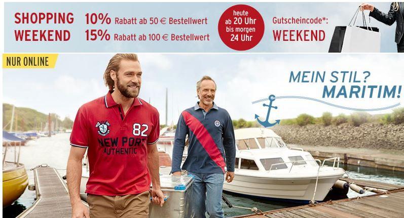 Tchibo shopping Weekend Tchibo mit bis zu 15% Rabatt bis Mitternacht auf fast alles   auch auf den 50% Rabatt Sale