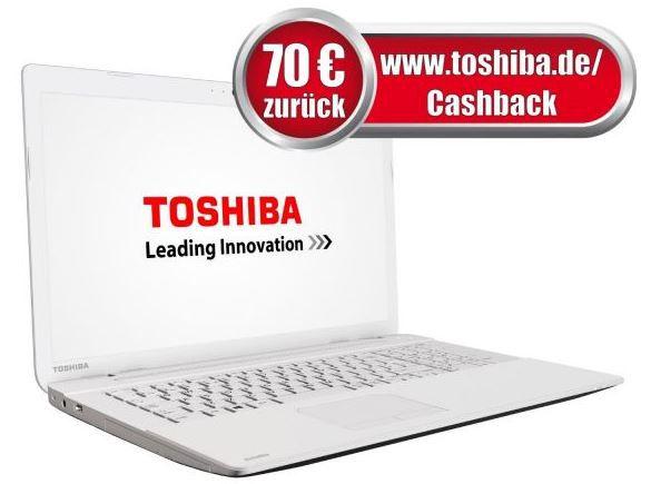 Toshiba Cashback Toshiba Satellite C70 B 33E   17 Zoll Notebook i3 4005U für effektiv 429€ bei den Cyberport Weekend Deals