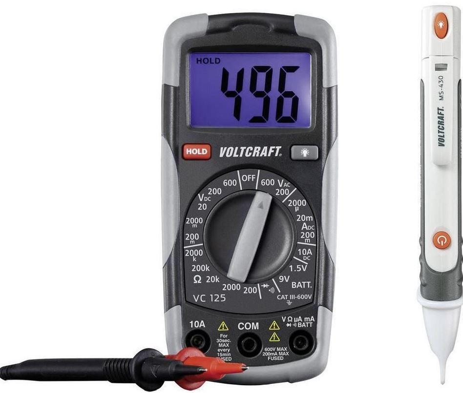VOLTCRAFT DT TEST KIT 150 CAT III   digital Hand Multimeter 600 V Anzeige für 20€