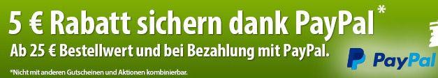 Voelkner Paypal 5€ Paypal Gutschein ab 25€ MBW bei Voelkner   z.B. AVM WLAN Repeater 300 Mbit/s für 24€