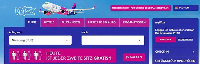 Wizz Air Jeder 2. Sitzplatz quasi kostenlos bei Wizz Air dank Geburtstagsaktion