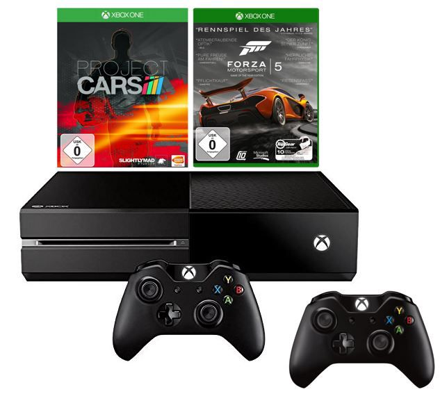 Xbox One   Konsole inkl. 2ten Controller + Forza 5 D1 Edition + Project Cars für 399€