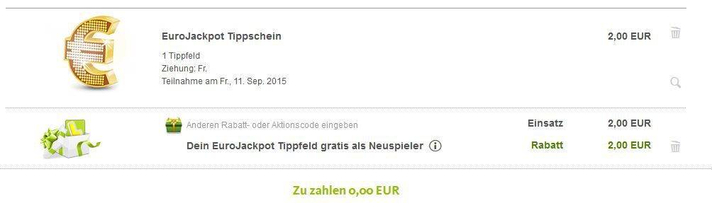 Lottoland: Gratis Tippfeld für EuroJackpot für Neukunden   Jackpot: 10.000.000€   Update
